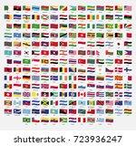 set of wavy flags. vector...   Shutterstock .eps vector #723936247
