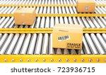 delivery concept. cardboard... | Shutterstock . vector #723936715