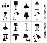 variety of lamps  bulb and... | Shutterstock .eps vector #723936925