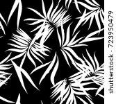 floral tropical patten palm... | Shutterstock .eps vector #723950479
