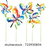 abstract fantasy colorful... | Shutterstock .eps vector #723950854