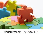 color puzzle | Shutterstock . vector #723952111