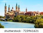 saragossa  spain. aerial view... | Shutterstock . vector #723961621