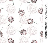 seamless retro 1940s pattern in ... | Shutterstock .eps vector #723968914