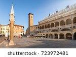piazza delle erbe with the... | Shutterstock . vector #723972481