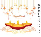 happy diwali beautiful... | Shutterstock .eps vector #723972751