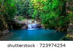 erawan waterfall  an outdoor... | Shutterstock . vector #723974254