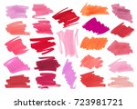 collection of various smears... | Shutterstock .eps vector #723981721