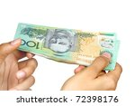 australian currency isolated on ... | Shutterstock . vector #72398176