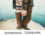 couple man and woman holding... | Shutterstock . vector #723981994