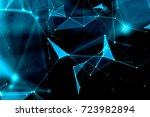 abstract technology and future... | Shutterstock . vector #723982894