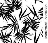 floral tropical patten palm... | Shutterstock .eps vector #723983914