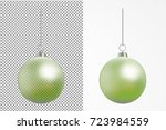 realistic transparent christmas ... | Shutterstock .eps vector #723984559