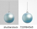 realistic transparent christmas ... | Shutterstock .eps vector #723984565