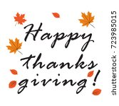 happy thanksgiving day graphic... | Shutterstock .eps vector #723985015