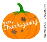 isolated pumpkin with text ...   Shutterstock .eps vector #723985024
