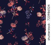 trendy  floral pattern in the... | Shutterstock .eps vector #723986524