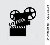 video camera. vector icon | Shutterstock .eps vector #723988195