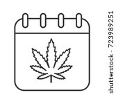 national weed day linear icon.... | Shutterstock . vector #723989251