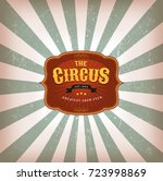 retro circus background with... | Shutterstock .eps vector #723998869