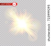 lens flare light effect. sun... | Shutterstock .eps vector #723999295