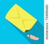 a stump of a finger  a crime... | Shutterstock .eps vector #724000681