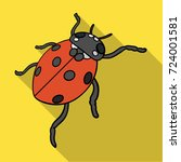 ladybug is an arthropod.the... | Shutterstock .eps vector #724001581