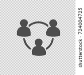 people network circle vector... | Shutterstock .eps vector #724004725