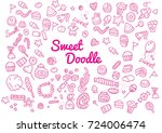 sweet candy sketch. hand drawn... | Shutterstock .eps vector #724006474