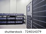 room with many cables and many... | Shutterstock . vector #724014379