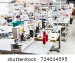 interior of garment factory... | Shutterstock . vector #724014595