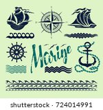 marine icons set for navigation ... | Shutterstock .eps vector #724014991
