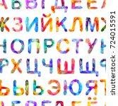 seamless vector pattern  ... | Shutterstock .eps vector #724015591