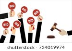 auction and bidding concept.... | Shutterstock .eps vector #724019974
