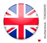 flag of uk in the form of a... | Shutterstock .eps vector #724020055