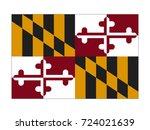 vector flag of maryland | Shutterstock .eps vector #724021639