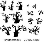 forest from the terrible trees | Shutterstock .eps vector #724024201