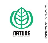 nature vector logo template... | Shutterstock .eps vector #724026694