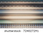 rolled paper for wrapping gifts....   Shutterstock . vector #724027291