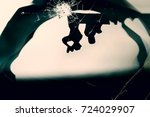 Abstract Blur Of Silhouette Of...