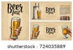 poster for festival or... | Shutterstock .eps vector #724035889