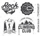 set of rock climbing club... | Shutterstock .eps vector #724036819