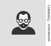 man with glasses and beard... | Shutterstock .eps vector #724040611
