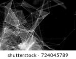 abstract technology and future... | Shutterstock . vector #724045789