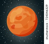 vector illustration with mars. | Shutterstock .eps vector #724046329