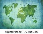 vintage world map background | Shutterstock . vector #72405055