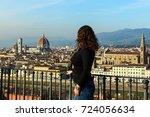 panorama florence girl | Shutterstock . vector #724056634