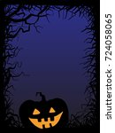 background  pumpkin  vector... | Shutterstock .eps vector #724058065