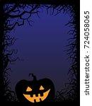 background  pumpkin  vector... | Shutterstock .eps vector #724058065