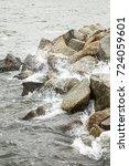 sea stones water element ... | Shutterstock . vector #724059601